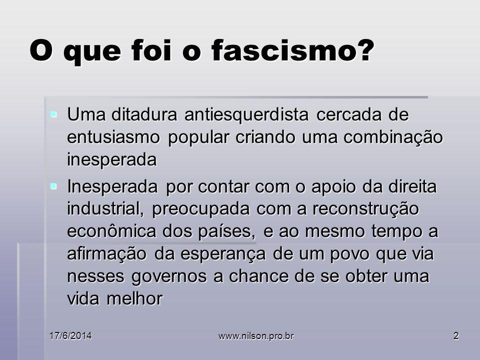 O que foi o fascismo.