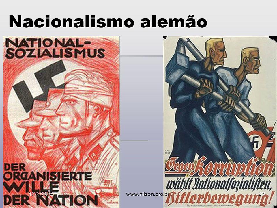 Nacionalismo alemão 17/6/2014www.nilson.pro.br27