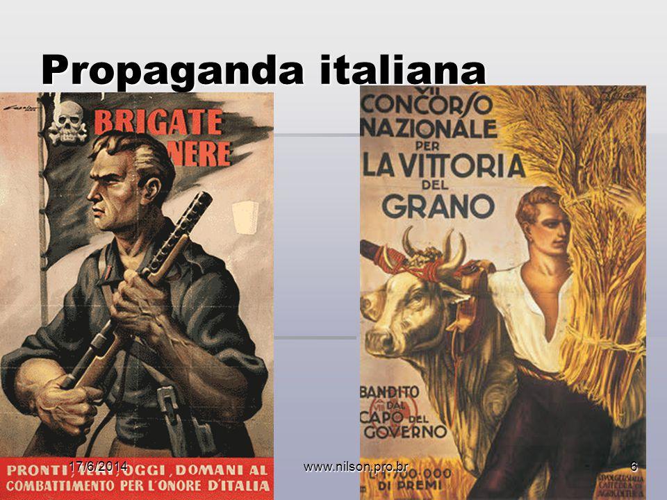 Propaganda italiana 17/6/2014www.nilson.pro.br6