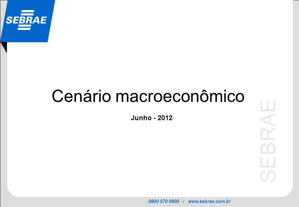 0800 570 0800 / www.sebrae.com.br SEBRAE Cenário macroeconômico Junho - 2012