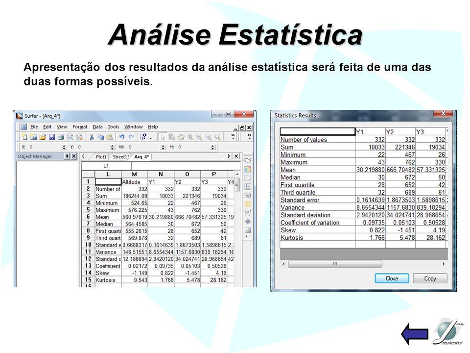Semivariograma Isotrópico Após a construção do semivariograma, o software ajusta automaticamente um modelo linear aos dados.