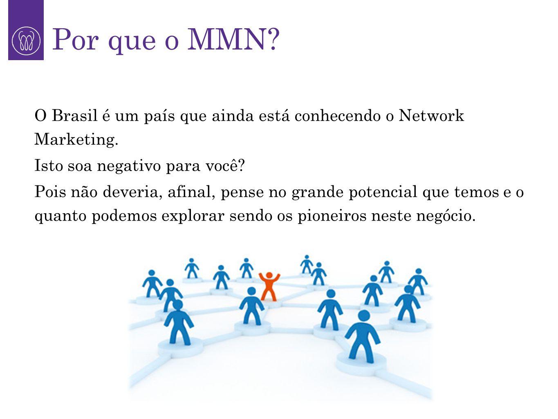 O Brasil é um país que ainda está conhecendo o Network Marketing. Isto soa negativo para você? Pois não deveria, afinal, pense no grande potencial que