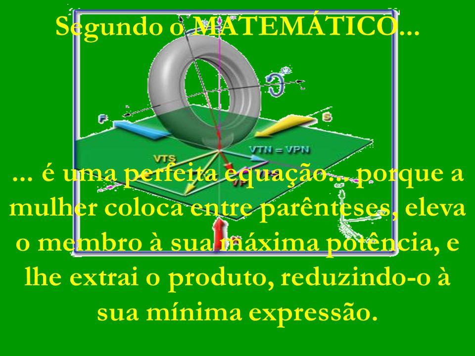 Segundo o MATEMÁTICO......é uma perfeita equação...