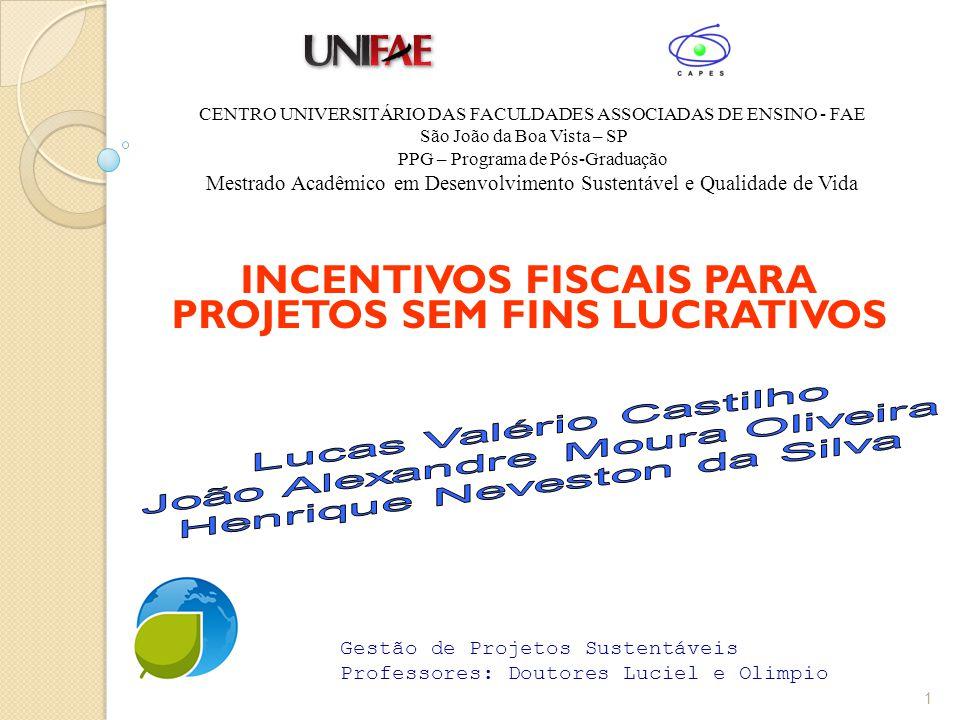 Lei de Incentivo Fiscal para projetos ambientais (em tramitação).