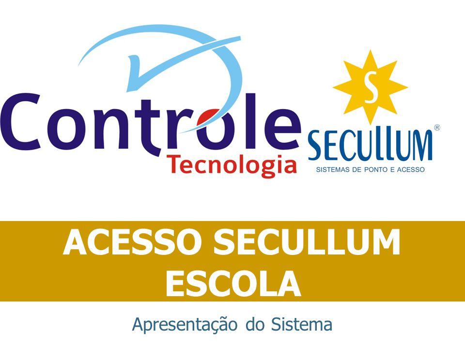 Objetivo ACESSO SECULLUM ESCOLA Controlar o acesso a escolas, comunicando diretamente com catracas informatizadas ou biométricas e oferecendo diversos recursos de gerenciamento.