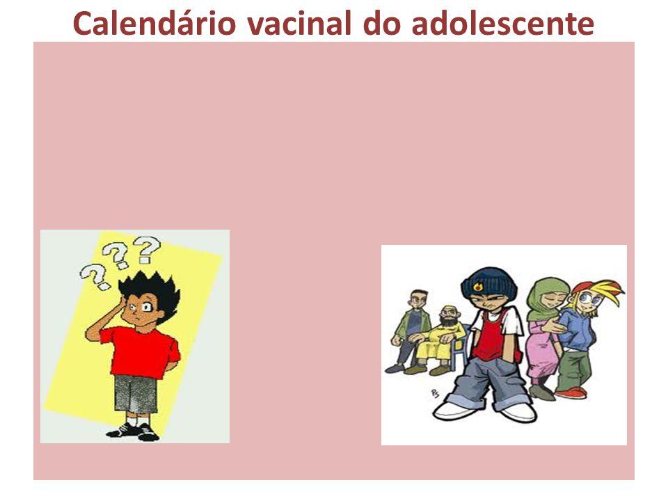 Calendário vacinal do adolescente
