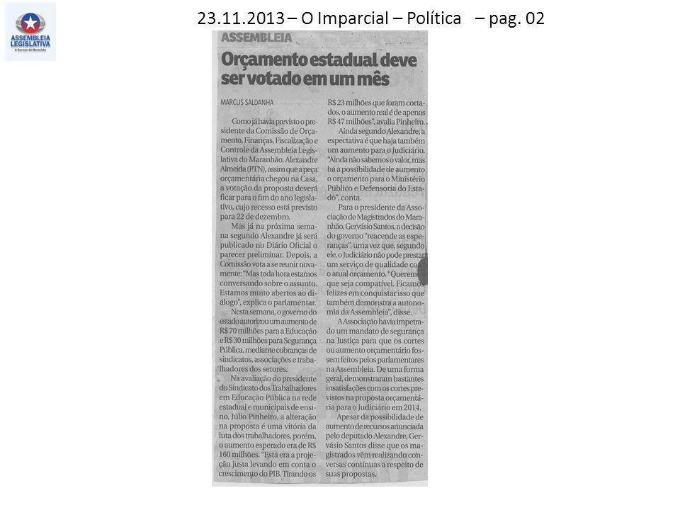 23.11.2013 – O Imparcial – Política – pag. 02