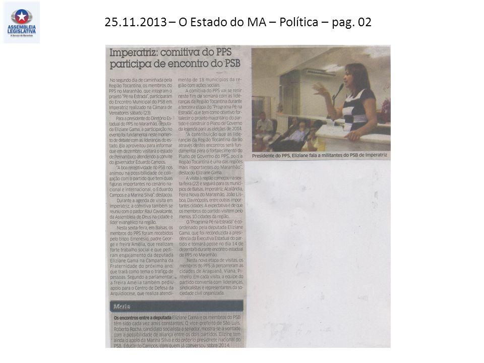 23.11.2013 – Jornal Pequeno – Política – pag. 03