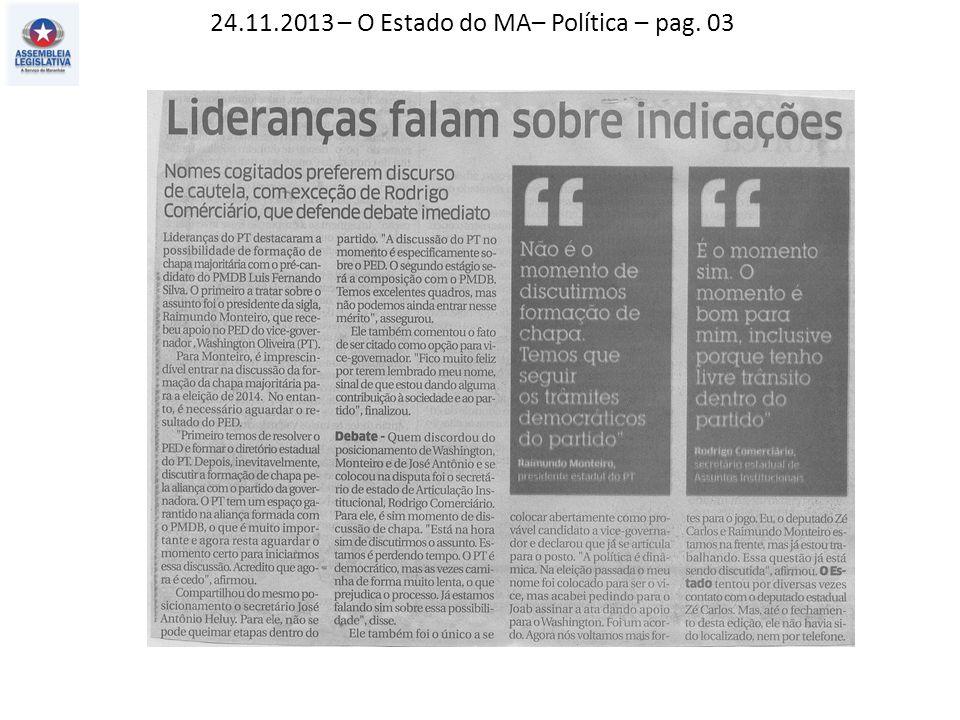 24.11.2013 – O Imparcial – Política - pag. 03