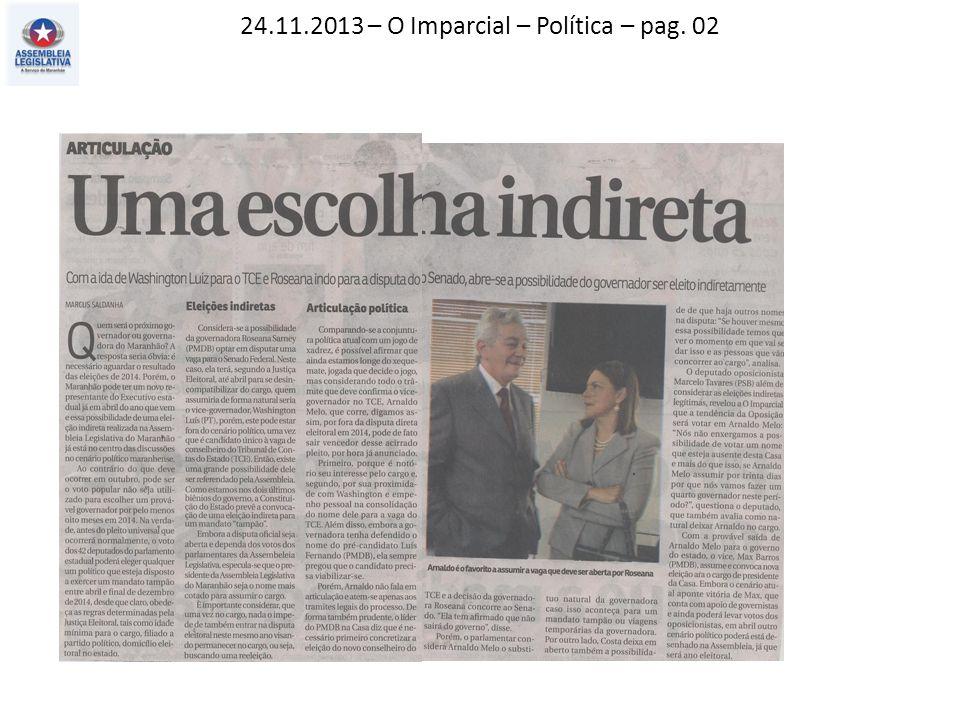 24.11.2013 – O Imparcial – Política – pag. 02