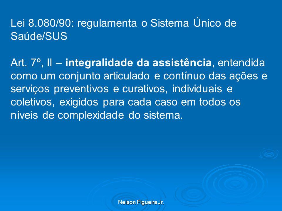 Nelson Figueira Jr.Lei 8.080/90: regulamenta o Sistema Único de Saúde/SUS Art.