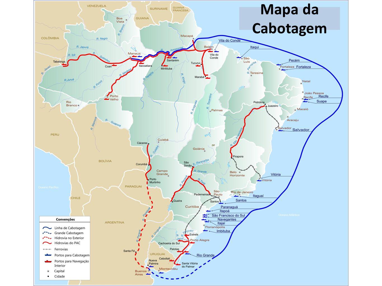Mapa da Cabotagem