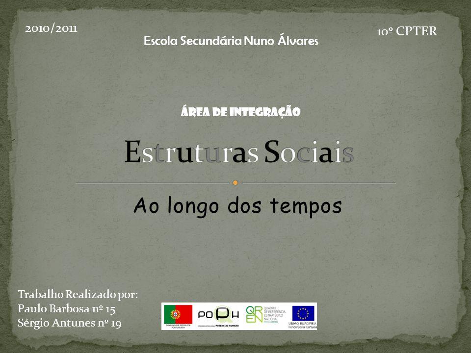 Ao longo dos tempos 2010/2011 10º CPTER Trabalho Realizado por: Paulo Barbosa nº 15 Sérgio Antunes nº 19 Escola Secundária Nuno Álvares Área de Integração