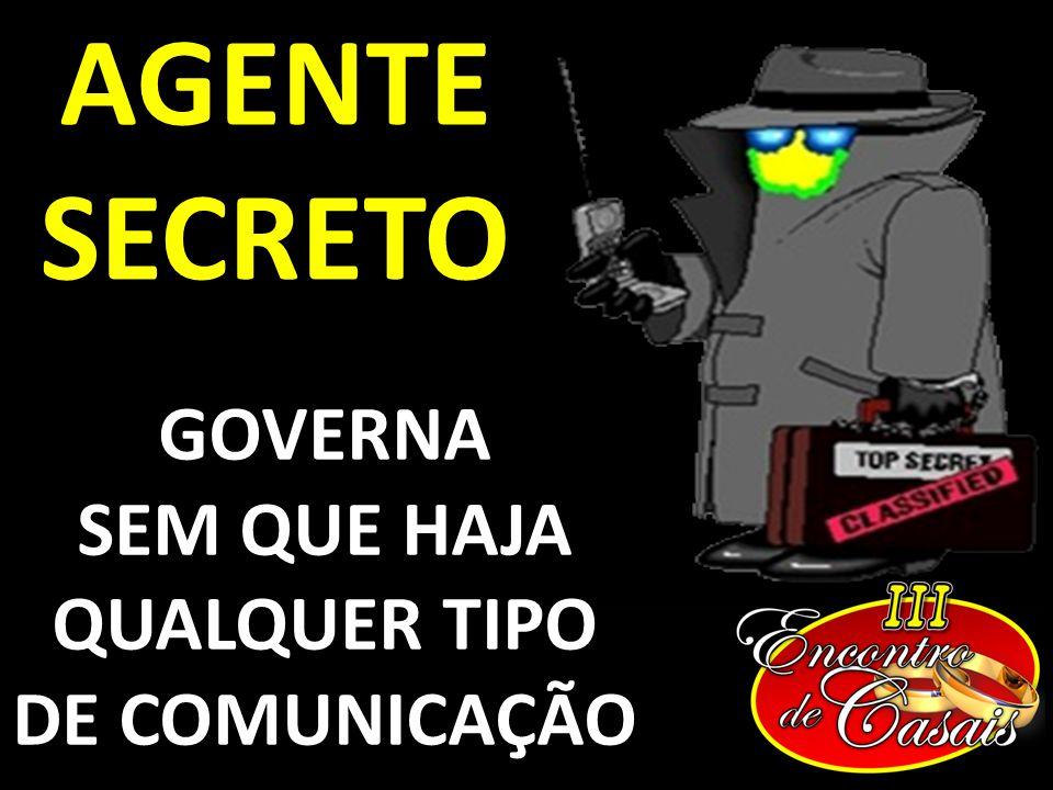 AGENTE SECRETO GOVERNA SEM QUE HAJA QUALQUER TIPO DE COMUNICAÇÃO