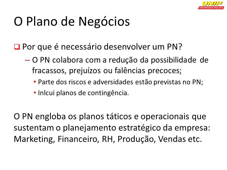 O Plano de Negócios Por que é necessário desenvolver um PN.