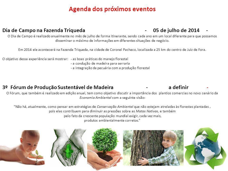 Agenda dos próximos eventos Dia de Campo na Fazenda Triqueda - 05 de julho de 2014 - O Dia de Campo é realizado anualmente no mês de julho de forma it