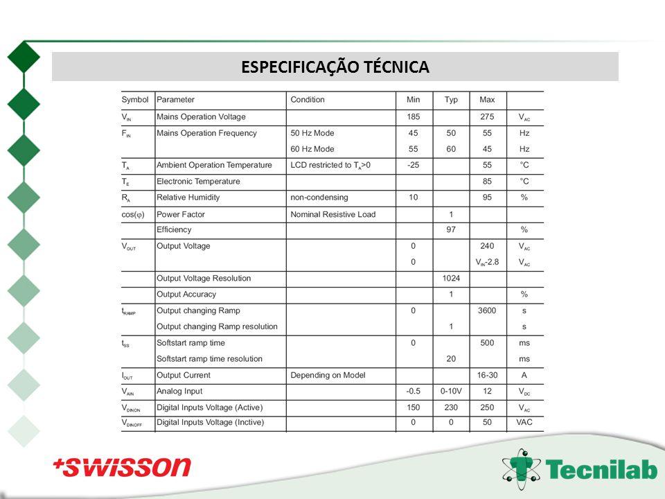 Dados Técnicos ESPECIFICAÇÃO TÉCNICA