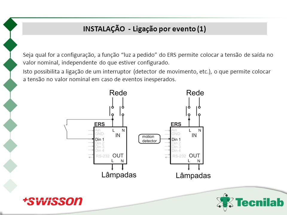 Seja qual for a configuração, a função luz a pedido do ERS permite colocar a tensão de saída no valor nominal, independente do que estiver configurado