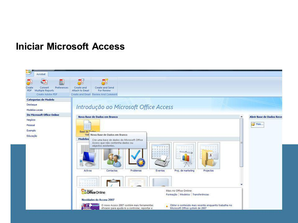 Iniciar Microsoft Access