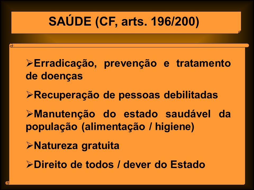 SAÚDE (CF, arts.