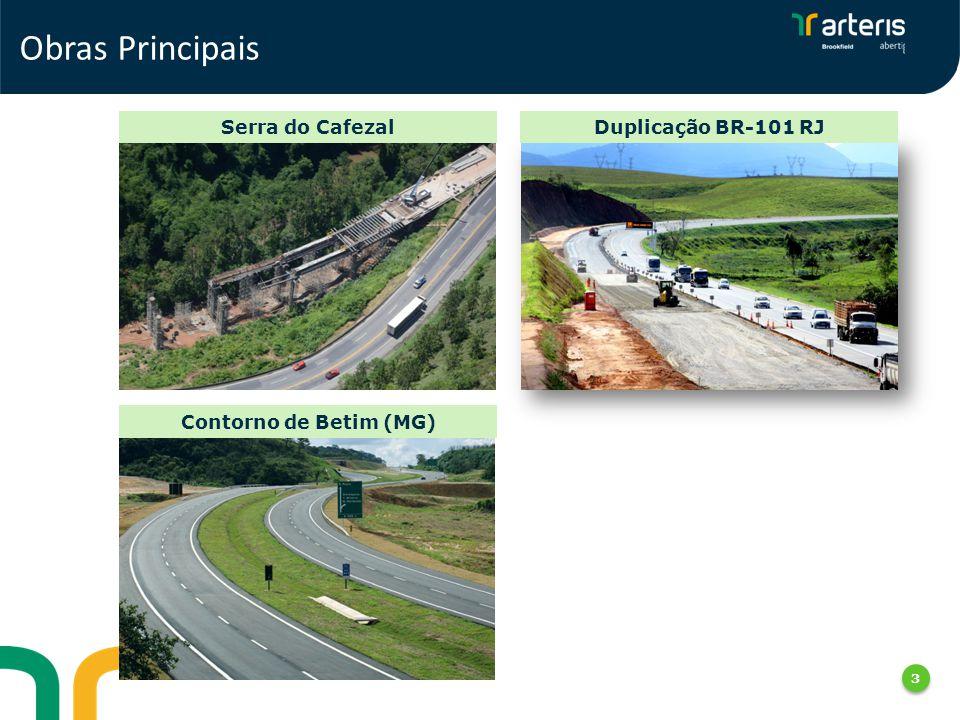 Serra do CafezalDuplicação BR-101 RJ Contorno de Betim (MG) 3 Obras Principais 3 3