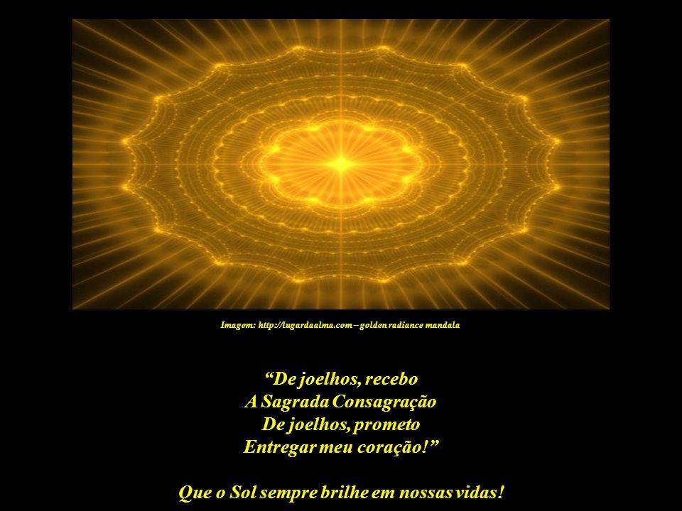 Que o Sol sempre brilhe em nossas vidas! Imagem: http://lugardaalma.com – golden radiance mandala Mas a afirmação Eu sou Filho do Sol apenas antecede