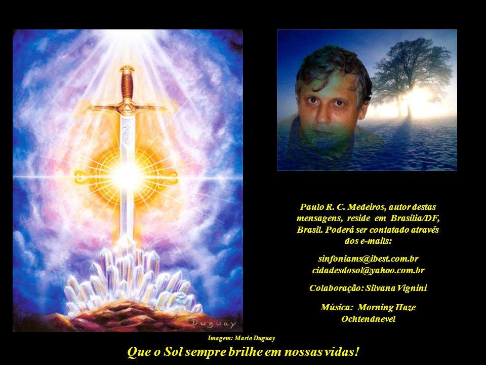 Que o Sol sempre brilhe em nossas vidas! A GRANDE INVOCAÇÃO Alice A. Bailey Do ponto de Luz na mente de Deus, Flua Luz às mentes humanas; Que a Luz de
