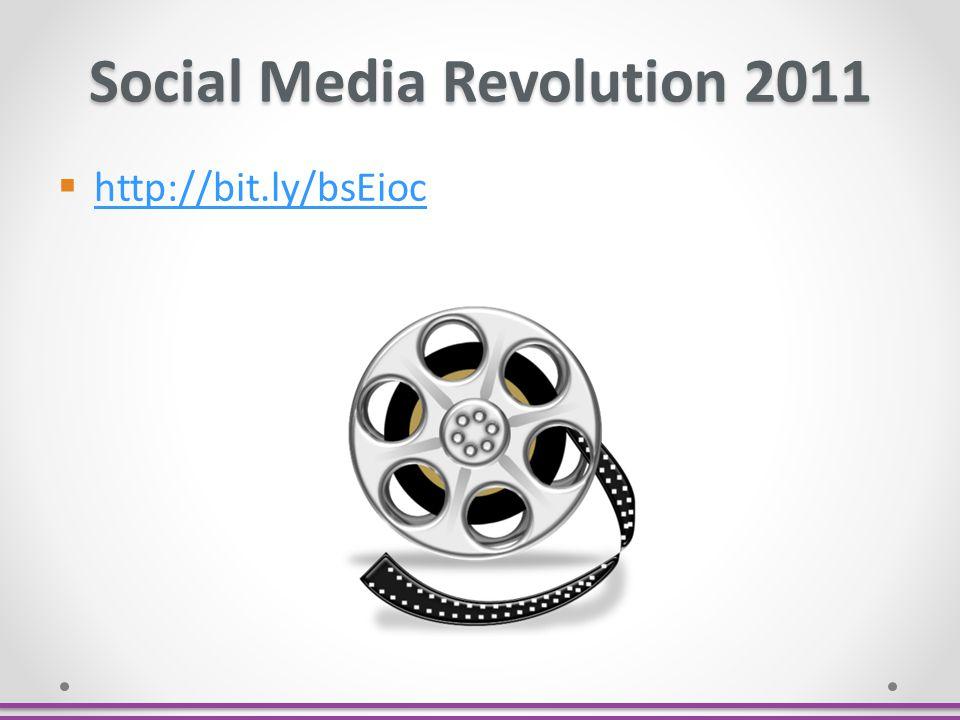 Social Media Revolution 2011 http://bit.ly/bsEioc