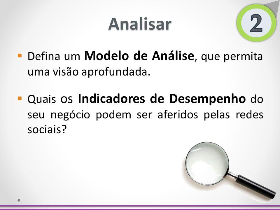 Analisar Defina um Modelo de Análise, que permita uma visão aprofundada. Quais os Indicadores de Desempenho do seu negócio podem ser aferidos pelas re