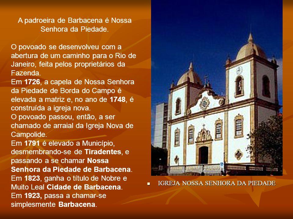 Em Barbacena, o visitante conhecerá exemplos da arquitetura colonial religiosa, como a Igreja Nossa Senhora da Boa Morte. A capela primitiva (1796) ce