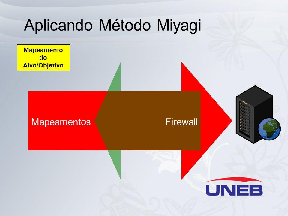 Aplicando Método Miyagi Mapeamentos Firewall Mapeamento do Alvo/Objetivo