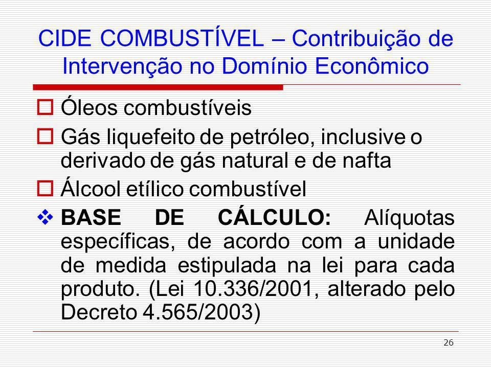 27 O VALOR DA CIDE NO LITRO DE GASOLINA Valores cobrados até 30 de abril de 2010.