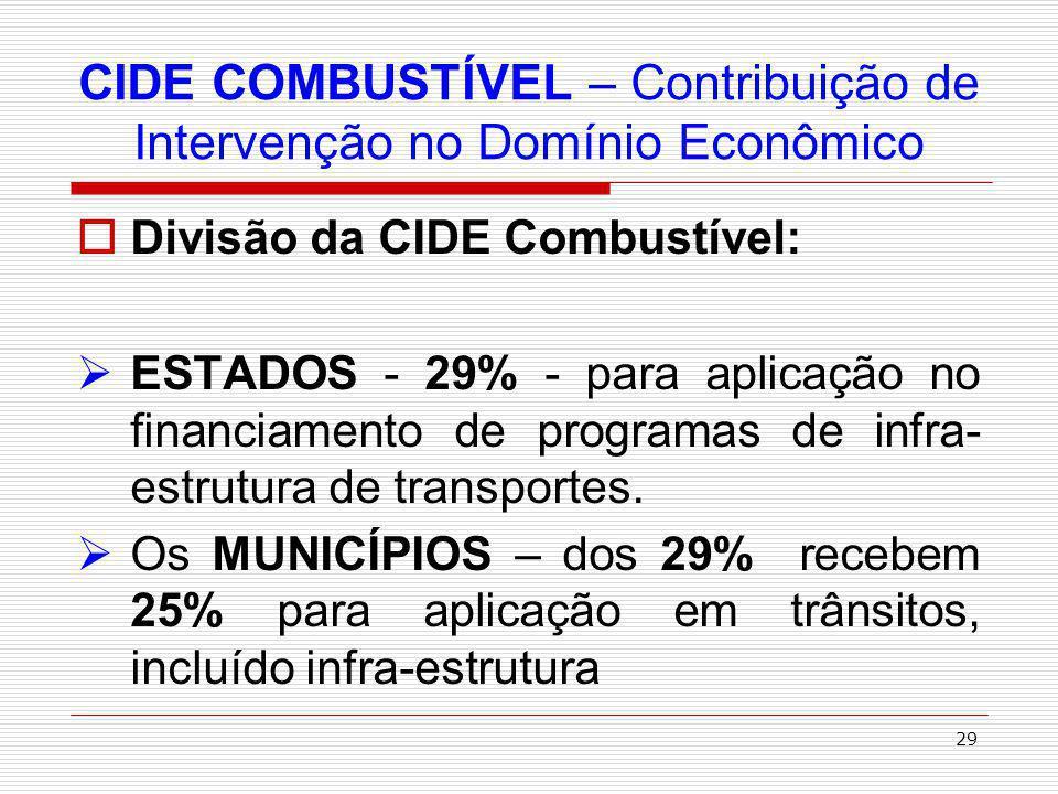 30 Por fim, Vale, ainda, ressaltar que a CIDE possui natureza de contribuição parafiscal ( de estímulo ou desestímulo a determinadas atividades econômicas ), não sendo, portanto, imposto e não estando abrangida pelos Tratados para evitar a Bi-Tributação celebrados pelo Brasil com outros países.