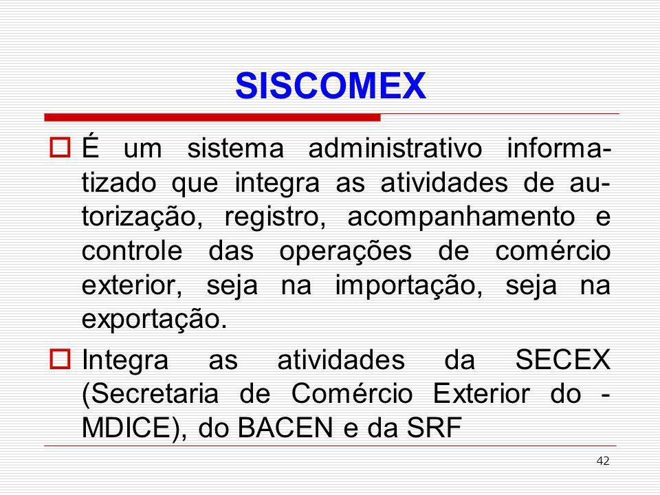 43 TAXA DE UTILIZAÇÃO DO SISCOMEX Taxa de Utilização do Sistema de Comércio Exterior Instituídas pela Lei 9.716/98 Deve ser paga no registro da Declaração de Importação (DI): R$ 30,00 por DI; R$ 10,00 por adição da DI, observado limite fixado pela SRF (IN SRF 206/02)