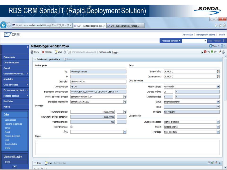 RDS CRM Sonda IT (Rapid Deployment Solution) 12