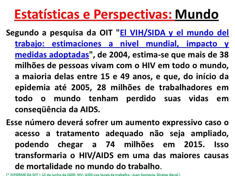 Estatísticas e Perspectivas: Mundo Segundo a pesquisa da OIT