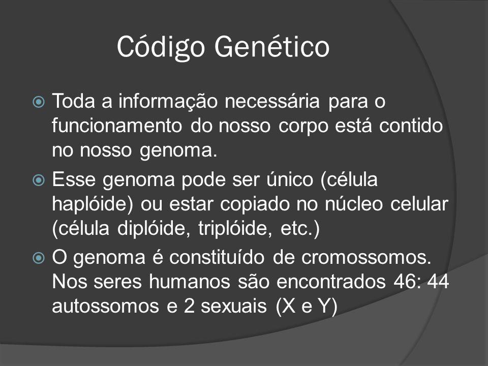 Toda a informação necessária para o funcionamento do nosso corpo está contido no nosso genoma. Esse genoma pode ser único (célula haplóide) ou estar c