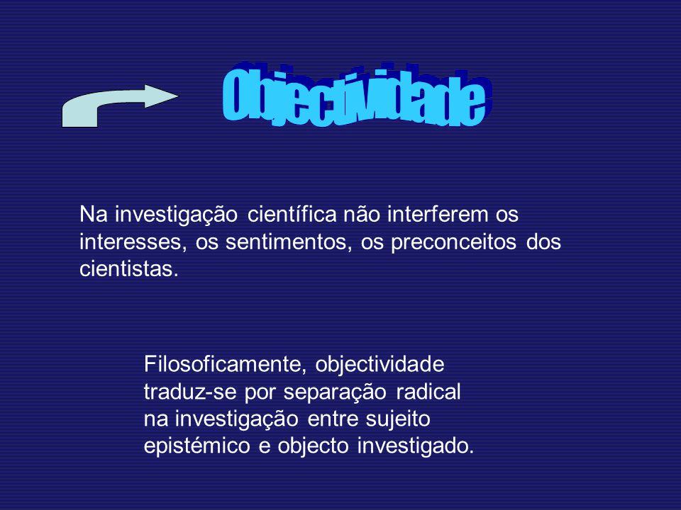 Porque, por exemplo, a presença do observador altera o objecto que se investiga.