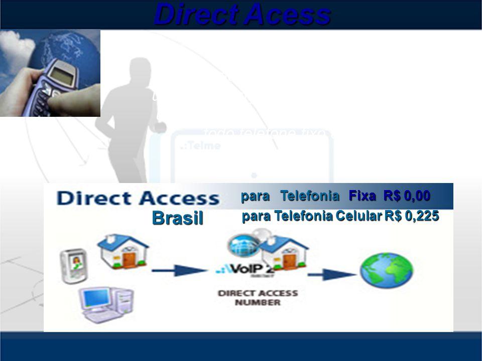 Direct Acess A Chamada de Acesso Direto permite ao usuário alcançar ou ser alcançado por todo usuário Telme.
