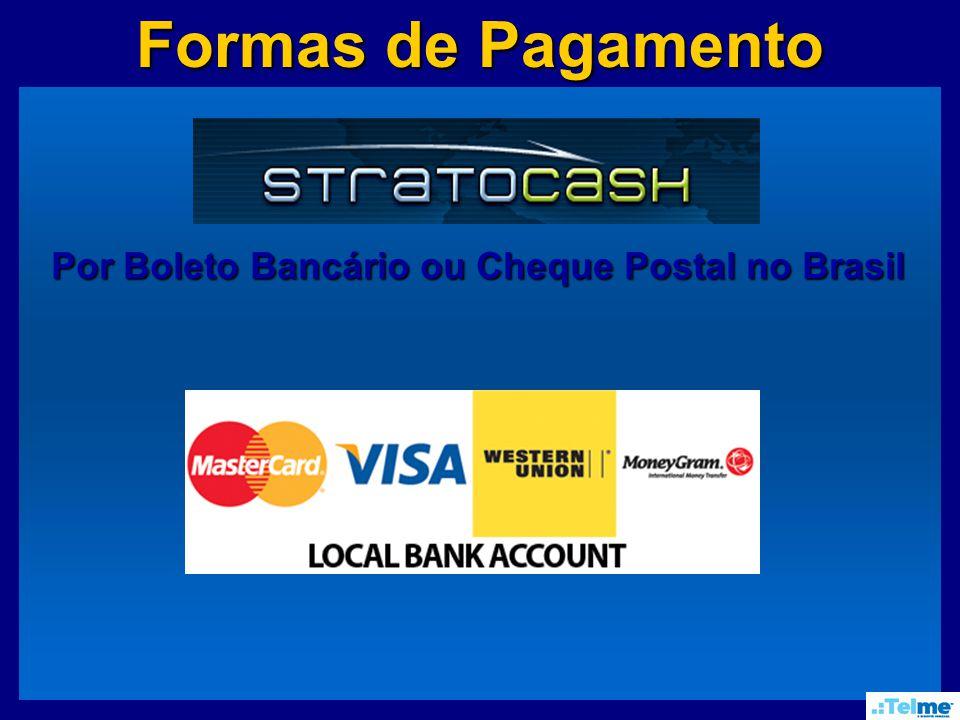 Formas de Pagamento Por Boleto Bancário ou Cheque Postal no Brasil