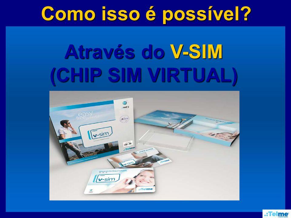 Como isso é possível Como isso é possível Através do V-SIM (CHIP SIM VIRTUAL)
