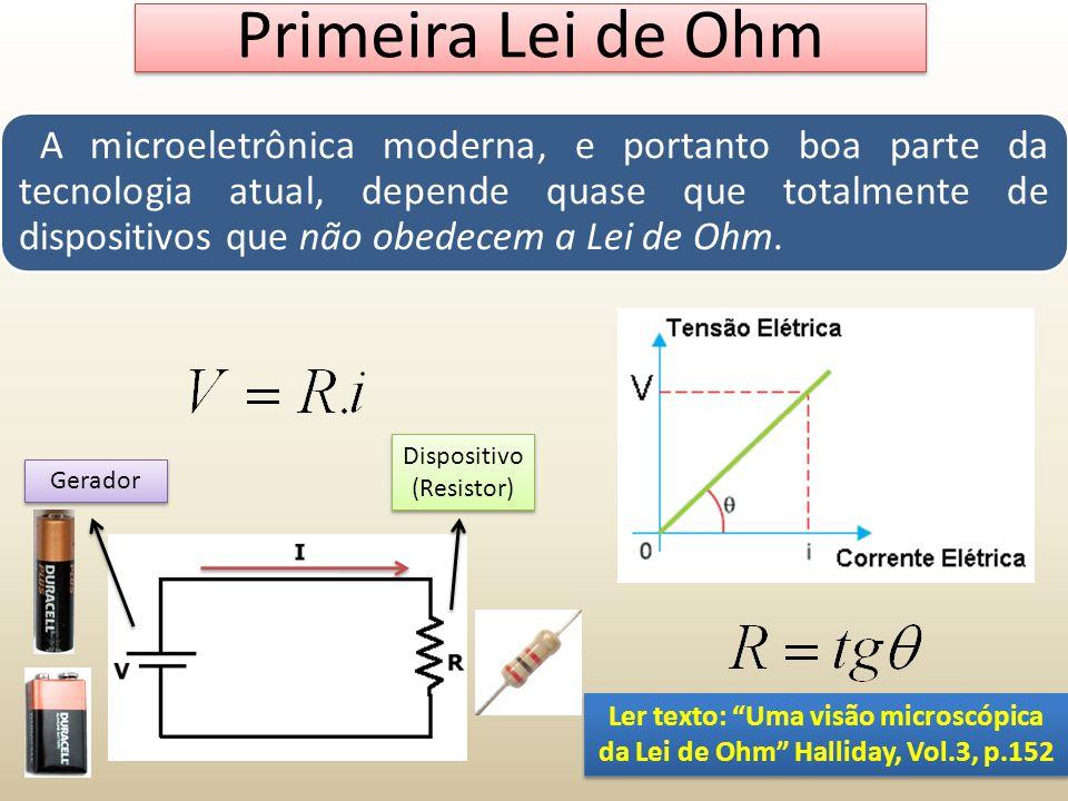A microeletrônica moderna, e portanto boa parte da tecnologia atual, depende quase que totalmente de dispositivos que não obedecem a Lei de Ohm. Prime