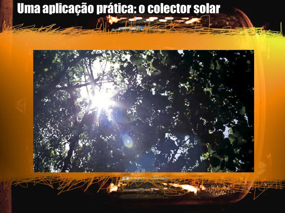 Uma aplicação prática: o colector solar