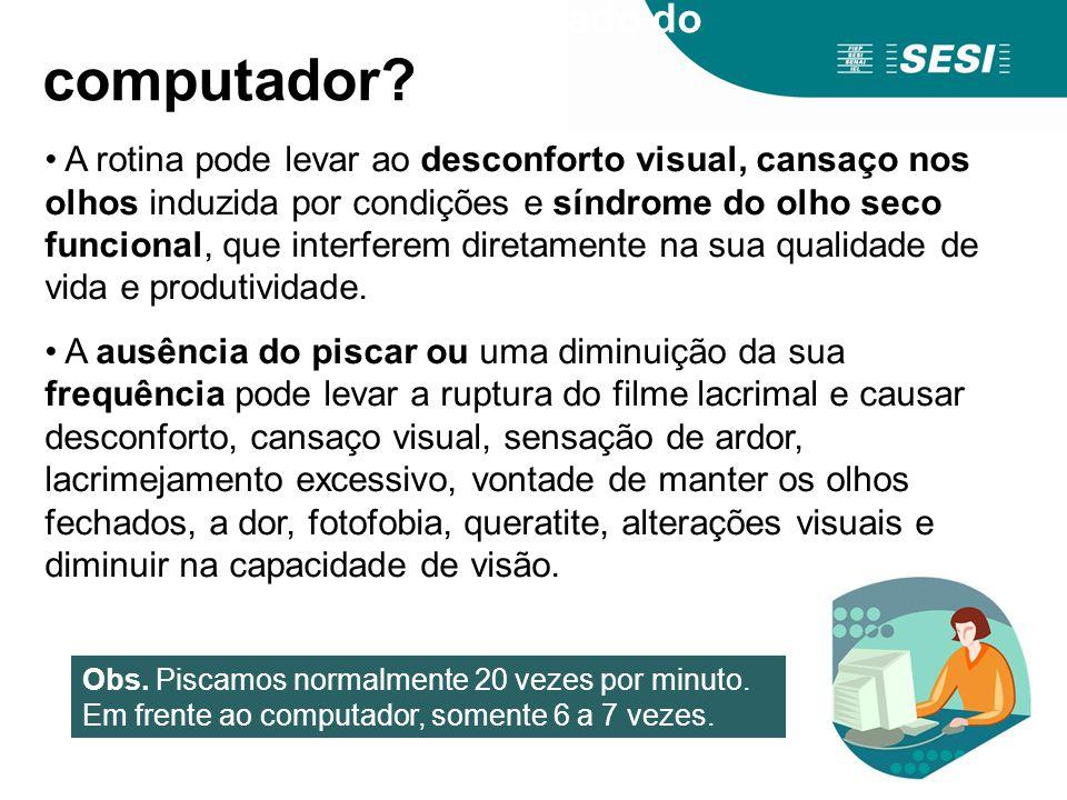 O que causa o uso demasiado do computador? A rotina pode levar ao desconforto visual, cansaço nos olhos induzida por condições e síndrome do olho seco