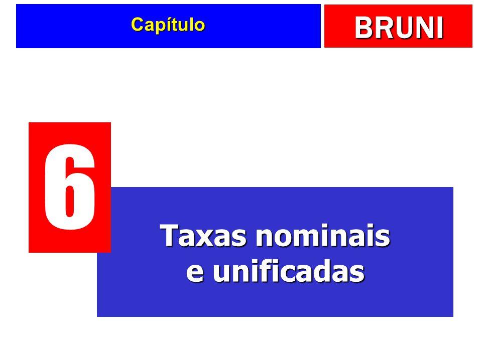 BRUNI Capítulo Taxas nominais e unificadas 6