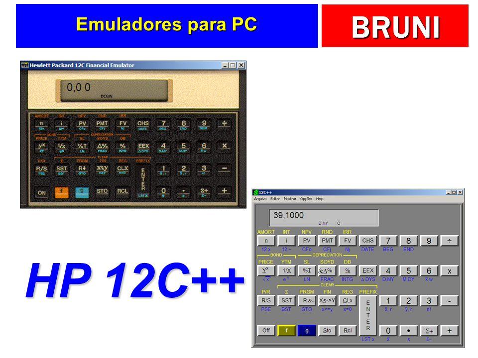 BRUNI Emuladores para PC HP 12C++