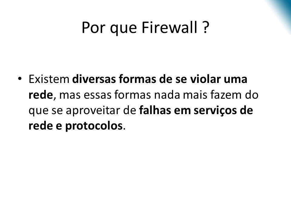 Parâmetros para a filtragem de pacotes -p – especifica o protocolo aplicado à regra.