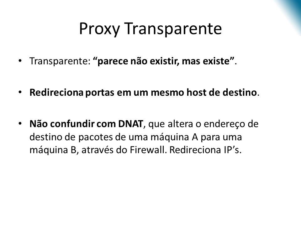 Proxy Transparente Transparente: parece não existir, mas existe.