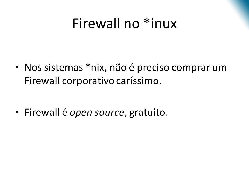 Lógica NetFilter (iptables)