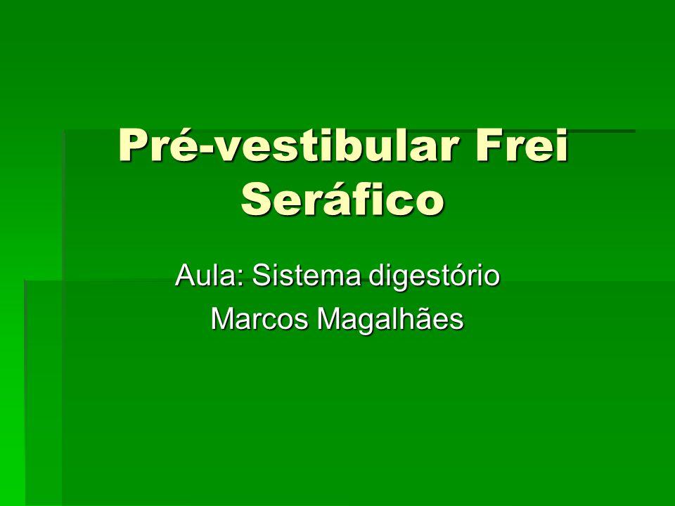 Pré-vestibular Frei Seráfico Aula: Sistema digestório Marcos Magalhães
